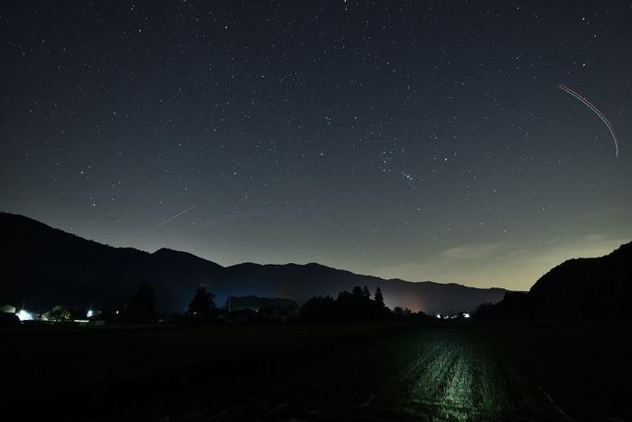 山里の星夜