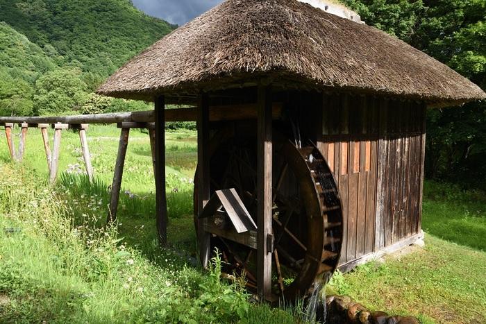 山奥の水車小屋